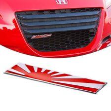Japanese Flag Emblem Aluminum Plate German Car Front Grille Fender Trunk Sticker
