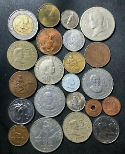 Old Philippines Coin Lot - 1934-Present - 22 Vintage Coins - Lot #J22