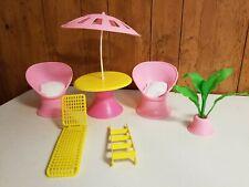 BARBIE Patio Party California Dream Vintage 1987 Furniture & Accessories