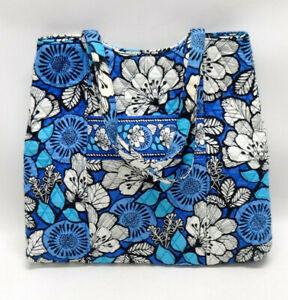 VERA BRADLEY BLUE BAYOU HOBO/SLOUCH TOTE ~ XL ~ RETIRED ~ EUC