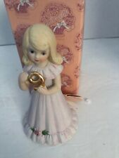 Growing Up Birthday Girls Blonde Age 9 Vintage Porcelain Figurine E-2309 Enesco