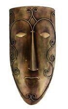 "Masks African Tribal Iron Men Wall Hanging Hand Carved Tiki Mask Decor Gift 18"""