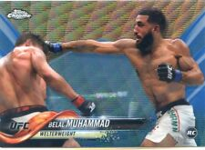 2018 Topps UFC Chrome BELAL MUHAMMAD RC Debut Blue Wave Refractor Card #/75