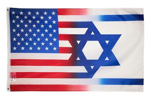 ISRAEL USA SOLIDARITY 3x5FT FLAG TOGETHER JEWISH AMERICAN JEW UNITED RELIGION
