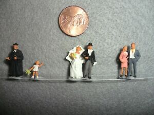 Vintage Wedding Party Preiser Miniaturfiguren