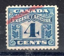 CANADA = 4 Cents Excise REVENUE stamp. Used single.