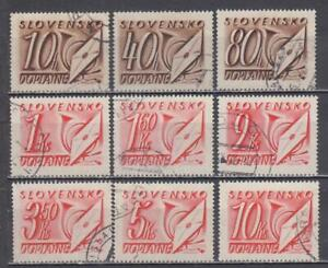 Slovakia postage due 1942 used lot (1522