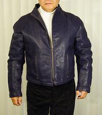 ARMANI EMPORIUM Indigo leather jkt Sz 50 Made in Italy, excellent cond. $399 NR