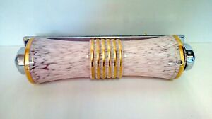 Bracket Wall Ttube Glass Clichy Pink And Golden Mount Chrome Design 1950