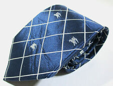 Burberry London Checks Knight Pattern Blue Color Silk Necktie Tie Made In Italy