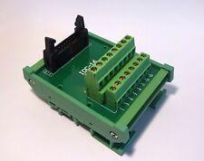 IDC-16 Male Header Breakout Board Screw Terminal Adaptor DIN rail mounting