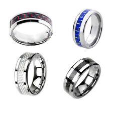 Unisex Modeschmuck-Ringe aus Wolfram ohne Stein