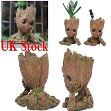 UK 16cm Guardians of The Galaxy Baby Groot Figure Flowerpot Style Pen Pot