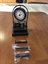 COOL Brown Hanging Desk Clock With Date Blocks