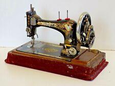 Singer Sewing Machine 1898 Rare Pre Letter Prefix  Hand Crank Vintage Antique