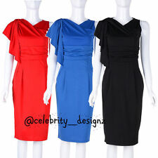 Knee-Length Wear to Work Solid Stretch, Bodycon Dresses