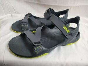 Teva Mens Barracuda Sport Sandals Waterproof Hiking Size 10 Gray Green 1002863