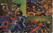 X-MEN GREATEST BATTLES PHONE CARD SET OF 4  - 1995