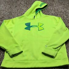 Youth UNDER ARMOUR UA Logo Loose Hoodie Sweatshirt Size YMD Neon Green