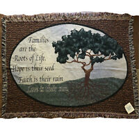 "Heavenly Family Tree Tapestry Throw Blanket 50""x40"" Home Wall Decor Fringe"