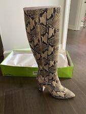 Sam Edelman Snakeskin Knee High Boots Sz 9, New