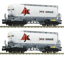 Fleischmann N scale Set of 2 silo cars Jura Cement/Wascosa