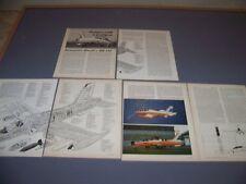 VINTAGE..MACCHI  MB-326K & MB-339...HISTORY/CUTAWAY/SPECS/3-VIEWS..RARE! (206F)