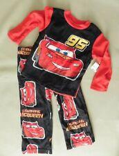 NWT Pixar Cars Lightning McQueen fleece pjs pajamas size  4  new red black