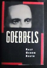 Goebbels by Ralf Georg Reuth HB/DJ 1st United States Edition NEW