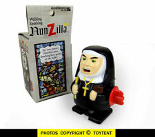 Vintage 1997 Accoutrements NUNZILLA Walking Sparking Wind up Nun Toy