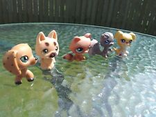 LOT OF FIVE (5) LPS LITTLEST PET SHOP-2 DOGS 1 FUZZY CAT 1 SQUIRREL & MORE!