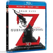 GUERRA MUNDIAL Z 3D + BLU RAY + DVD NUEVO ( SIN ABRIR ) BRAD PITT