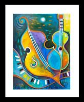 Expressionism Painting Modern Abstract Art Marlina Vera Music Cello Guitar Jazz