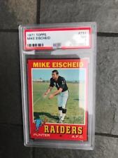1971 Topps football psa 7 Mike Eischeid