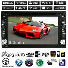 "6.2"" In Dash 2 Din Car Stereo DVD Player GPS Navigation Bluetooth MP3 iPod Radio"