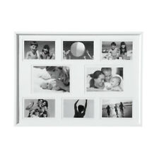 "Premier 53x39cm White Collage Multi Photo Frame for 8 Family Pictures 4x6""/5x7"""