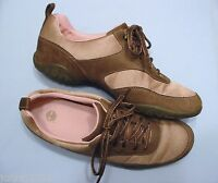Walking Shoes, Timberland, Brown & Sand Leather & Fabric, Womens Size 8.5 M