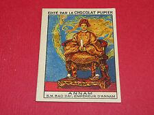 CHROMO ANNAM INDOCHINE N°73 S.M. BAO DAÏ EMPEREUR CHOCOLAT PUPIER ASIE 1936