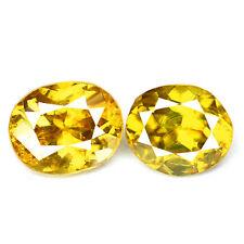1.90ct 100% Natural earth mined yellow green multi color sphene/titanite russia