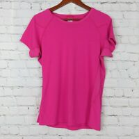 The North Face Womens Sz L Vapor Wick Short Sleeve Top Shirt Pink