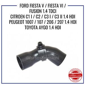 MANICOTTO INTERCOOLER FORD FIESTA V VI FUSION 1.4 TDCI TUBO ARIA 1333636 1202492