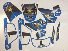 Sticker kit deco moto cross pour Yamaha PW50 PW 50 Bleu Très Haute Qualité
