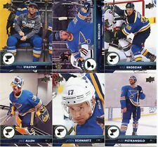 17/18 UPPER DECK SERIES 1 TEAM SET - ST LOUIS BLUES