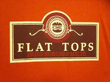 FLAT TOPS med T shirt Austin hamburgers Texas ice cream restaurant fast-food OG