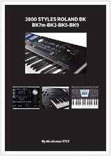 3800 Styles pour ROLAND BK7m-BK3-BK5-BK9