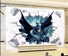 DIY 3D Break Batman Art Vinyl Wall Stickers Decals Kids Room Decor Removable