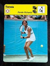 RENEE RICHARDS 1979 Sportscaster Card #85-01 TENNIS