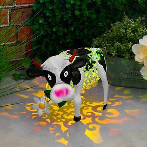 GloBrite Garden Solar Powered Cow Colour Changing -Ornamental Light