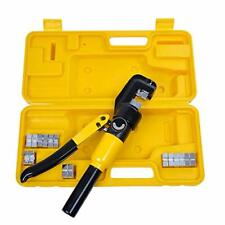 10 Ton Hydraulic Wire Crimper Battery Cable Lug Terminal Crimping Clamp Tool Wit