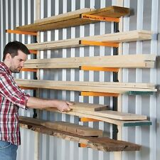 Triton Workshop Wall Mounted Wood Timber Pipe Rack Shelf Storage System Wra001